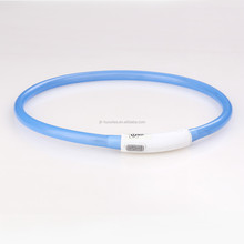 rechargeable silicone led collar usb pet supply