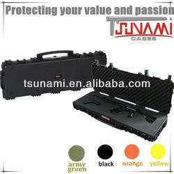 heavy duty hard plastic durable abs material waterproof shockproof hard plastic rifle case