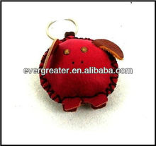 promotional gifts products handmade PU leather keychains leather key rings cute key holders wholesale