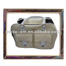 UW-PB-023 elegant Beige leather pet bag for dog rest