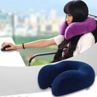 2015 Portable U Shape Travel Memory Foam Neck Polyester Fiber Pillow