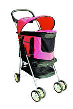 Painting Pet Transport Stroller Dog Trolley Pet Carrier