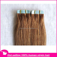 whole sale cheap Indian human tape hair extension,adhesive tape for hair extensions