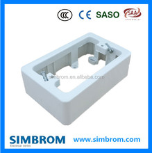 Surface mounted Australia electrical wall switch bottom flush box 118*74*34mm PC
