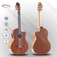 "[Winzz] 39"" Sapeli Plywood Cutaway Rosewood Fingerboard Classic Guitar (AC309CE)"