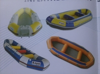 Inflatable rafting boat for drifting