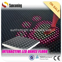 Interactive led dance floor installation for various deejay events