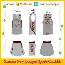Bottom price hot selling high quality basketball tops and pants