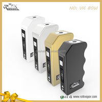 Newest vic 80w box mods 2015 adjustable wattage mods accurate temperature control mod box mods for vaping
