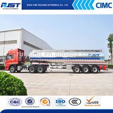 De aluminio del tanque de combustible semi remolque/líquido del tanque acoplado/camión cisterna
