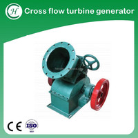 Cross flow hydro turbine generator / mini hydroelectric dynamo