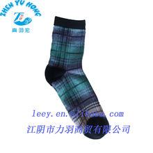 Men Gender Tartan Plaid Socks, Cotton Thick Long Tube Socks Manufacturer OEM