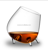 Clear transparent special vampire design brandy glass customized size drinking wine glass popular model
