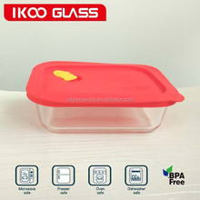 2015 new products ( Lunch Box) high borosilicate glass food storage box for oven microwave