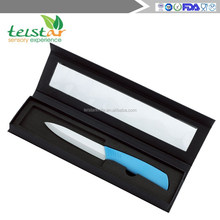 OEM available ABS+TPR handle kitchen accessories ceramic knife with black gift box