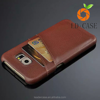 Genuine Leather Hard Back Case For samsung galaxy s6 cover with many colors