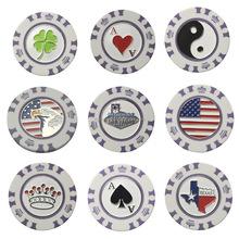 Dia 40mm plastic poker chip golf ball marker for golf club