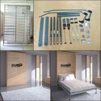 double size wall bed murphy bed mechanism