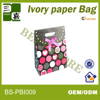 Custom paper bag for custom gift paper bags with patch handle
