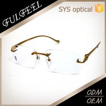 New italy design rimless metal reading glasses halves
