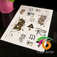 all kinds of gilding Tattoo sticker with non toxic export to europe and north amercia