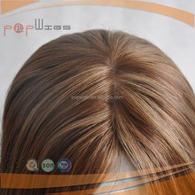 Most Comfortable and Breathable Design Silk top Middle Handtied type lace front women medical wig