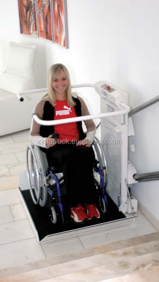 Lift For Disabled Person : The disabled barrier free wheelchair platform lift