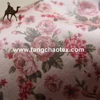Tangchao Recycled Plastic Bottle Printed Suede Fabric