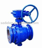 Trunnion mounted gear operate ball valve