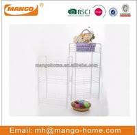 White Powder Coating Wire Kitchen or Bathroom Storage Rack