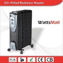 Living Room Bedroom Black Slimline Oil Heater for Sale
