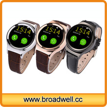 Fashional Design Circle IPS Touch Screen Smart Mobile Watch Phones With Bleutooth, Pedometer, Anti lost