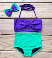 Cute cotton summer baby girl sex swimming wear