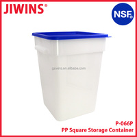 NSF Approved 22QT Large Square Plastic Food Storage Container Airtight