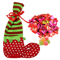 Popular Candy Christmas Socks Bags Pouch For Gift Santa Feet Stocking Pant Merry Xmas Kids Party Home Decor Ornament Supplies