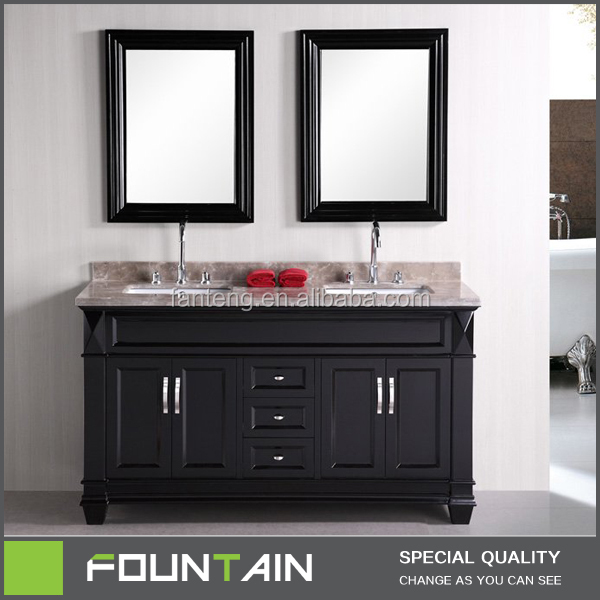 Hot Sale Home Decor Modern Bathroom Vanity Cabinet Double Sink Solid