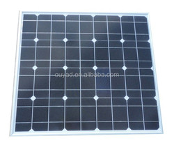Grade A Solar panel Monocrystalline 50W with competitive cost and reliable quality