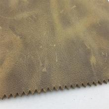 Brown yellow crazy horse style cow leather for bags or shoes