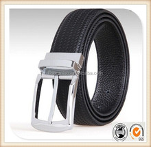 Reversible buckles belt man fashion belt good quality leather belt