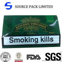 golden-virginia tobacco pouch with zipper/golden virginia tobacco incense bages