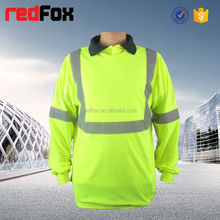 dog plain t-shirts colored reflective safety t-shirt for worker roadwear high visibility safety t-shirt