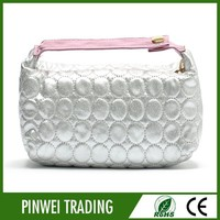 bling pu hand cosmetic bag,organic cotton cosmetic bag