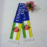 Hot Sale customer design small MOQ Multicolor Knitted Football banner Scarf