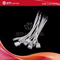 50pcs LED RGB connector 10mm 4pin Female 15cm Adapter Cable 5050 RGB LED Strip Connect to Power