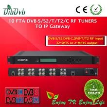 best selling 10 fta DVB-T rf to ip gateway satellite receiver