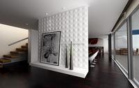 Modern exterior decoration polymer composite 3D wall panel