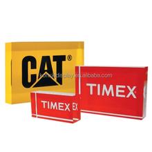 factory custom clear acrylic logo brand block display for sale