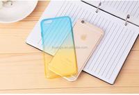 Buy direct from china 2 Colour Gradient Gel Tpu Silicone Back Cover Case tpu case cover for iphone 6s plus china suppliers