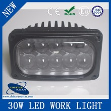 Quality guaranted 5.5 inch rectangle 30w spot beam 6000k auto led work lights