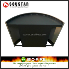 Wall Mount Electric Fireplace in black color